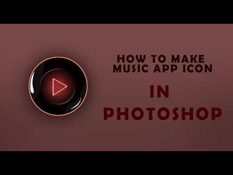 How To Make Music App Icon/Logo In Photoshop