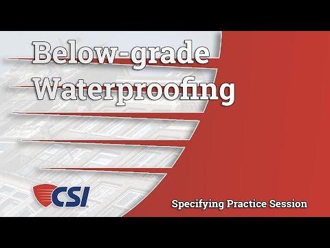 Below-grade Waterproofing