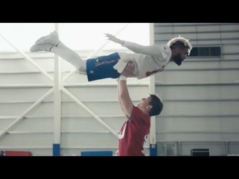 Eli Manning Odell Beckham  Dirty Dancing Super Bowl Commercial Endzone Celebration In HD 4K