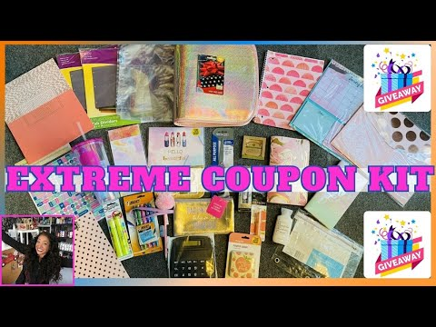 EXTREME COUPON KIT GIVEAWAY ❤️ CLICK WATCH ENTER TO WIN | COUPON BINDER & SO MUCH MORE!