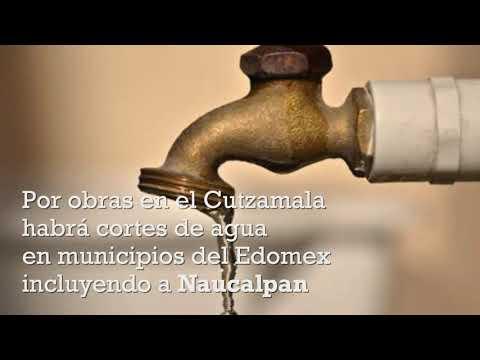 Habrá reducción de agua en Naucalpan por obras en Cutzamala