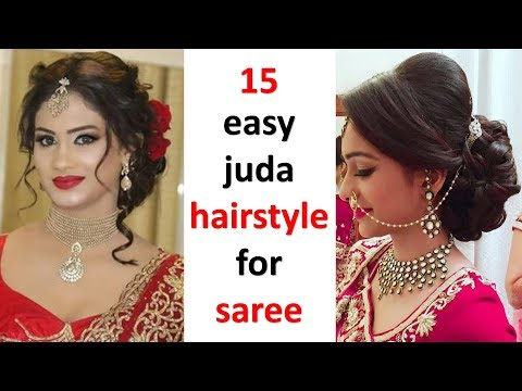15-quick-juda-hairstyle-with-saree-|-easy-hairstyles-|-updo-hairstyles-|-new-hairstyles-|-hairstyle