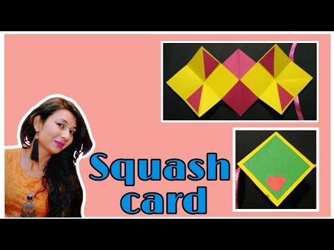 || Squash card Tutorial || scrapbook pages||