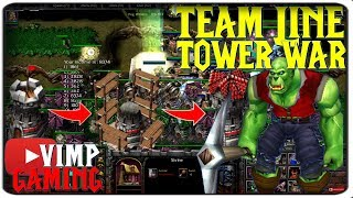 Warcraft 3 | Team Line Tower War | Too Easy