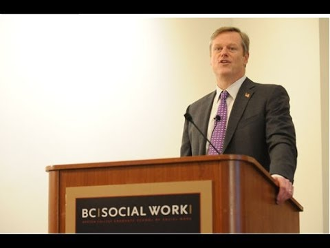 Charlie Baker on Social Work & Health Care - Boston College School of Social Work - Video