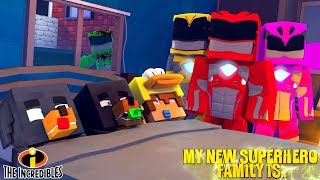 Minecraft MY NEW SUPERHERO FAMILY IS THE POWER RANGERS