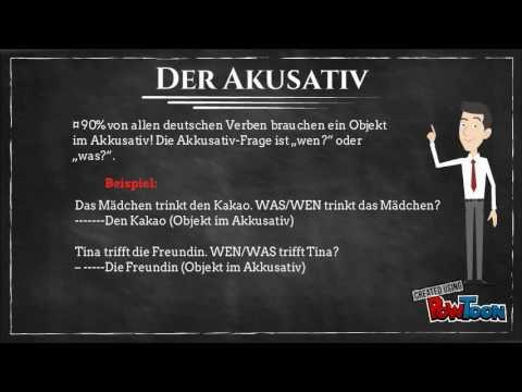 Deutsche Grammatik Lektion I Akkusativ Und Dativ Youtube