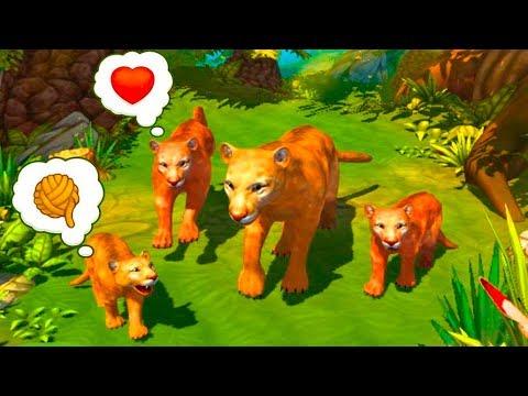 СИМУЛЯТОР ДИКОЙ КОШКИ #8 Сим Семьи Кугуара -  развлекательное видео для детей от Кида #ПУРУМЧАТА