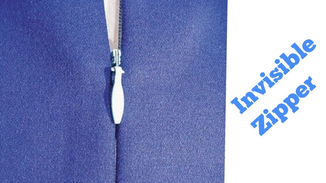 c6c09a4047ca How to attach invisible zipper in suit