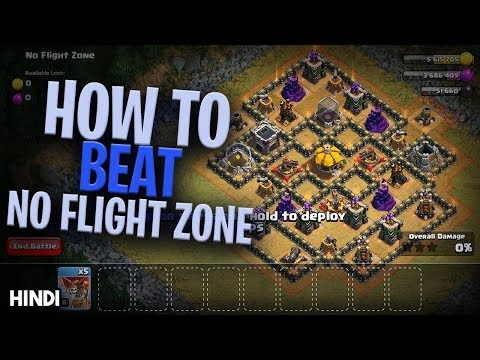 How To Beat NO FLIGHT ZONE The Goblin Map Using TH8 TH9 TH10 TH11 AND TH12 THE EASIEST METHOD