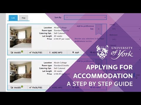 Online accommodation application guide