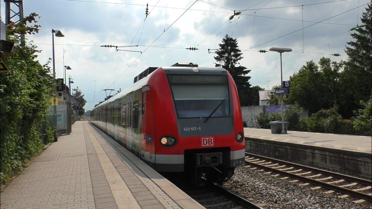 Neufahrn Mit An Und Abkopplungen Bei Der S Bahn München Regionalzüge Und Güterzug Mit Br 151