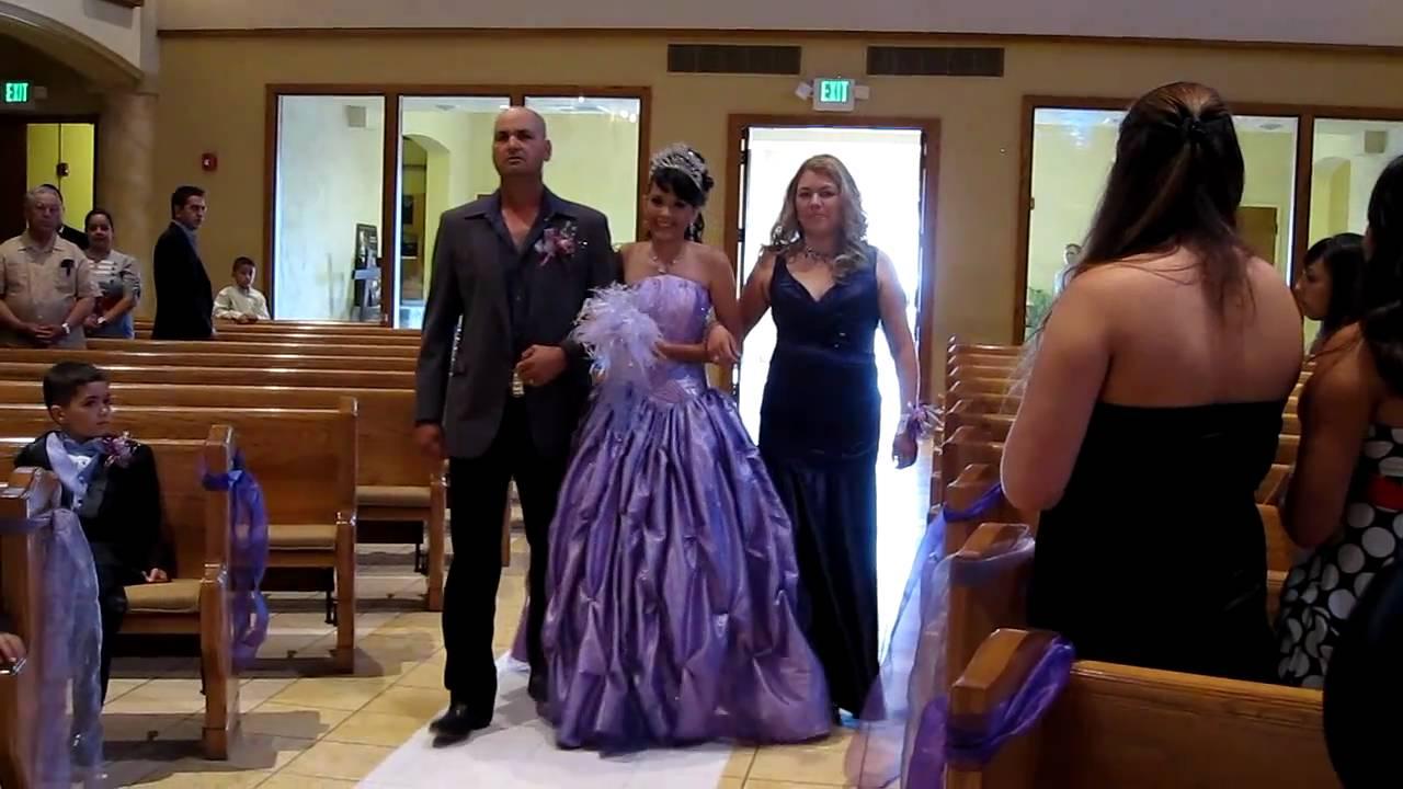 Ariana S Quincea 241 Era Start Of Church Ceremony Youtube