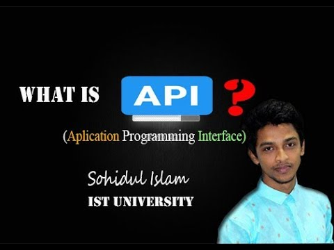 API bangla tutorial (Application programming interface)