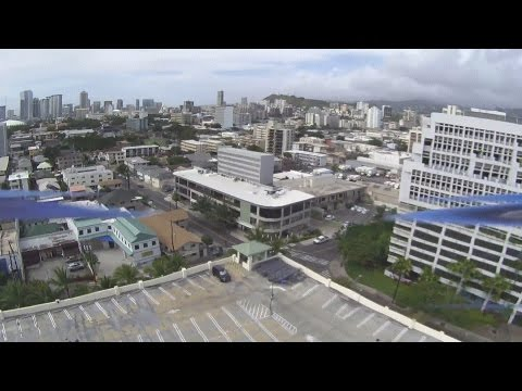 Quadcopter at Honolulu Sams Club parking lot with BitEye Camera