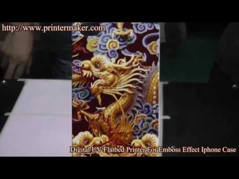 Digital UV Flatbed Printer For Emboss Effect Iphone Case
