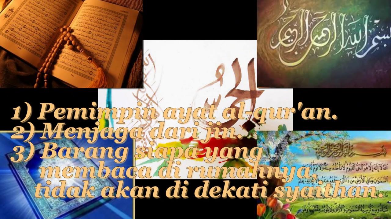 Fadhilah Surat Surat Dalam Alquran