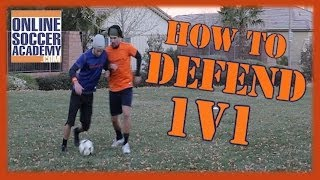 1v1 defending learn basic advanced techniques online soccer academy
