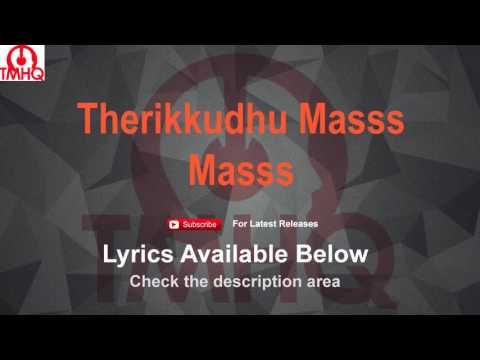 Therikkudhu Masss Karaoke with Lyrics Mass