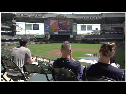 the brewers are playing fortnite on the miller park jumbotron - fortnite on jumbotron