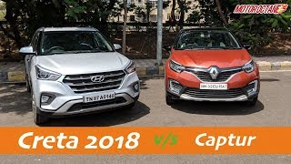 Hyundai Creta 2018 vs Renault Captur Comparison in Hindi | MotorOctane