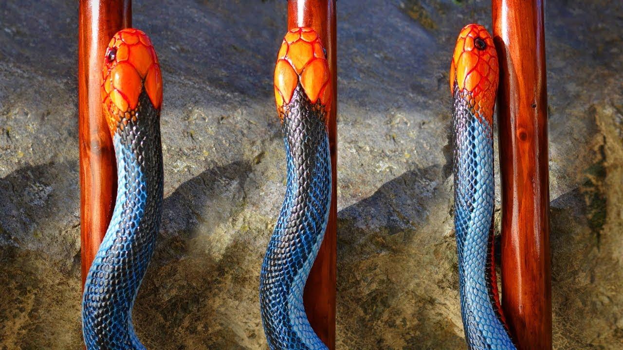 """Snake Burmese Python Walking Stick 48/"""""""