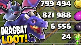 HUGE LOOT GAINS WITH DRAGBAT FARMING! - Free to Play TH10 - Clash of Clans