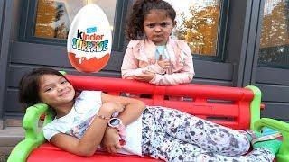 Öykü and Masal Johny Johny Yes Papa surprise chocolate pretend play fun kid video