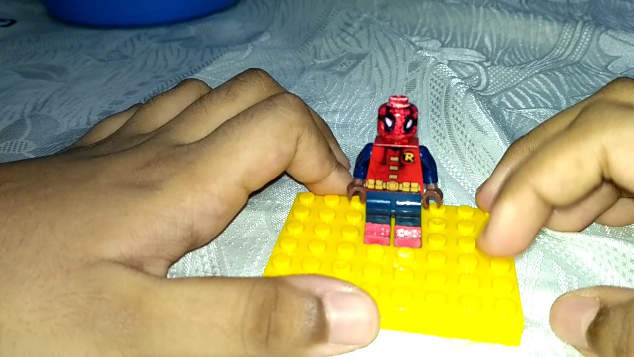 SPIDERMAN HOMECOMING CUSTOM LEGO HOME MADE SUIT YouTube - How to make homemade lego decals