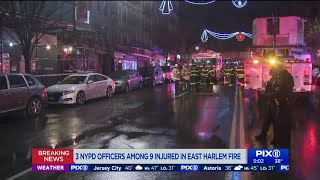 Fast-moving apartment fire in East Harlem injures 9, FDNY says