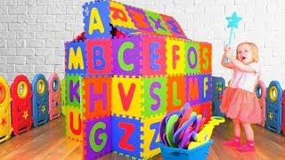 Английский алфавит - Детская песня | Песни для детей от Кати и Димы