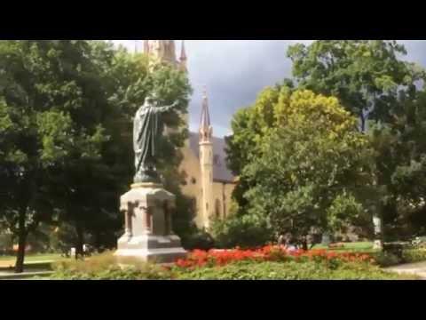A bike tour at University of Notre Dame