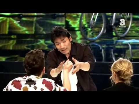 Keiichi Iwasaki semifinal performance at Italia's got talent 2016
