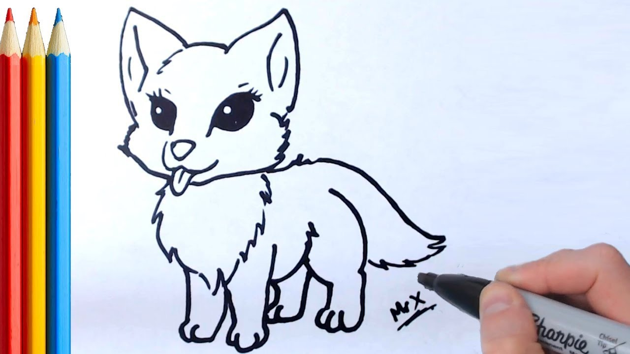 How To Draw Wolf Simple Step By Step Tutorial