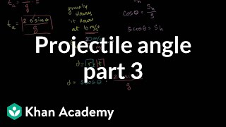 Optimal angle for a projectile part 3 - Horizontal distance as a function of angle (and speed)