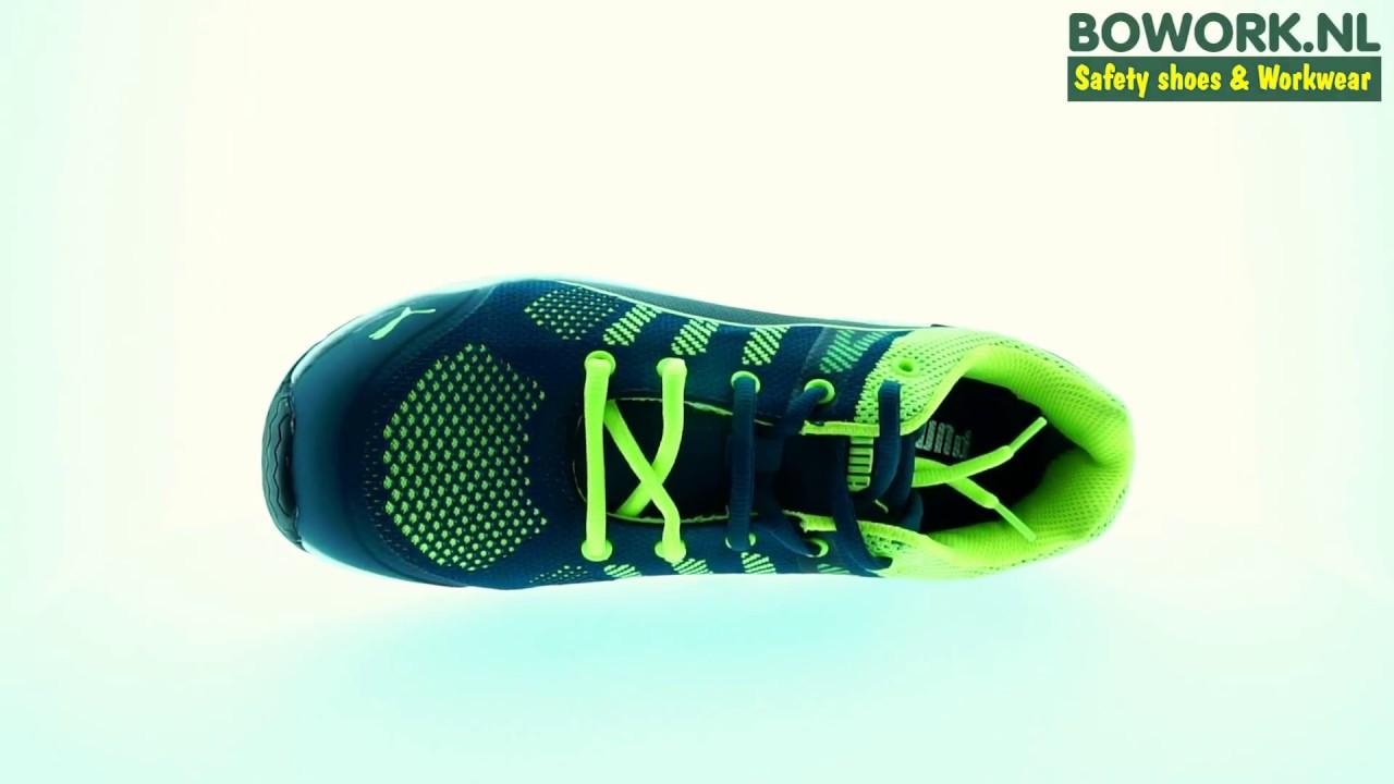 95a14f0d385 Werkschoenen Puma 64.317 Elevate Knit Green Low S1P SRC productfilm ...
