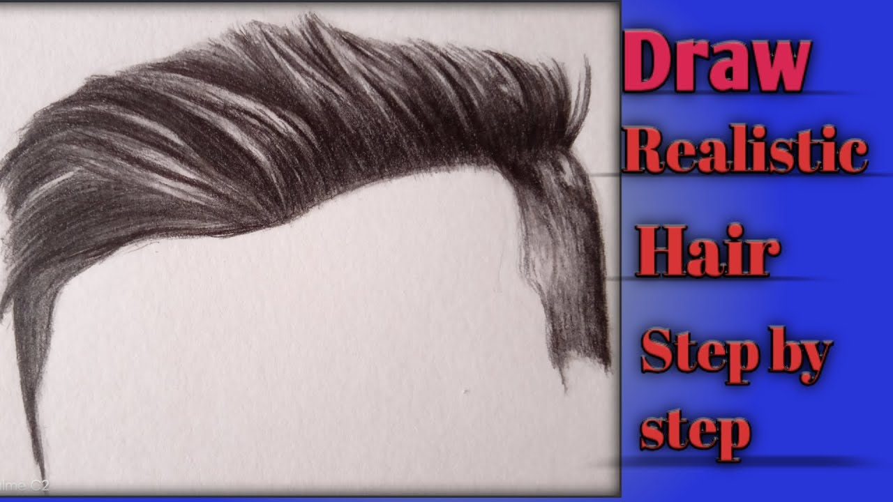 How To Draw Realistic Hair Step By Step For Beginners I| Tutorial - YouTube