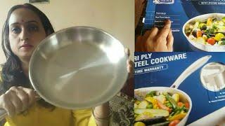 Prestige Tri Ply Stainless Steel Fry Pan 240 mm Review Renu Singh Indian Mom