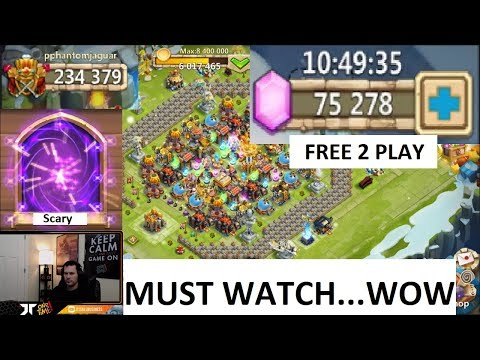 Rolling 75000 FREE 2 PLAY Scariest SESSION Of MY LIFE Castle Clash