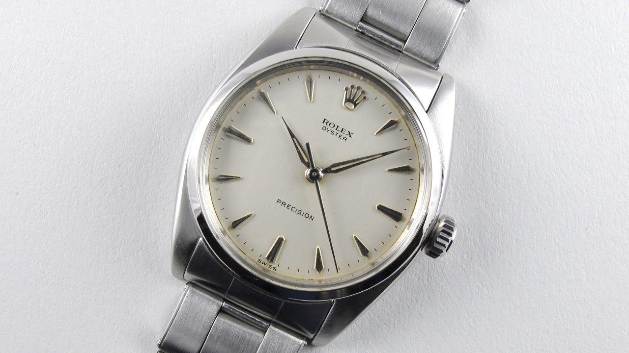 Steel Rolex Oyster Precision Ref 6427 Vintage Wristwatch