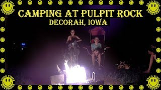 Camping at Pulpit Rock, Decorah Iowa