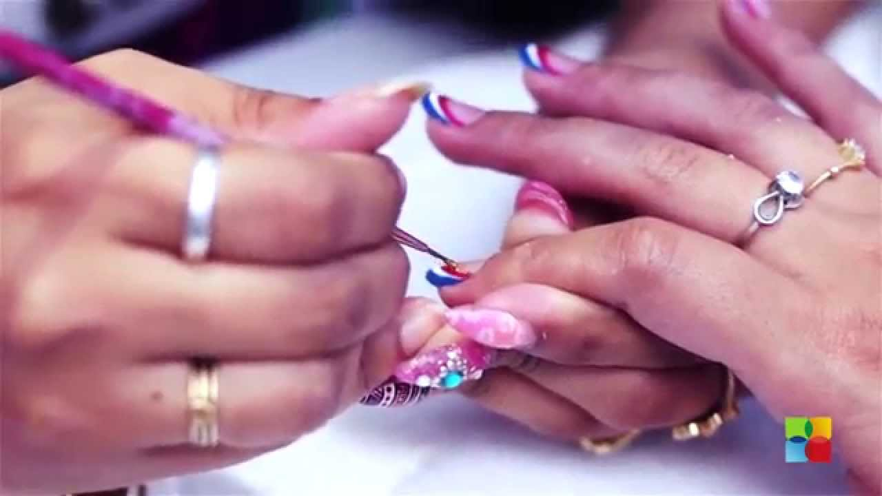 American french manicure - YouTube