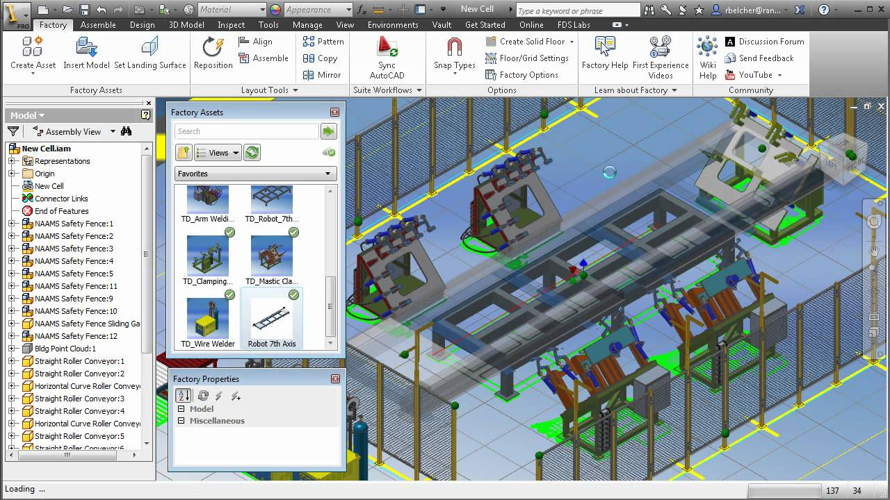 Autodesk factory design suite 2013 demonstration youtube for Autodesk online home design