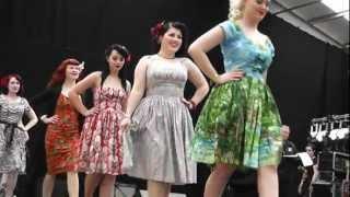 BERNIE DEXTER CLOTHING 1950s ROCKABILLY DRESS COLLECTION Americana 2012 fashion show