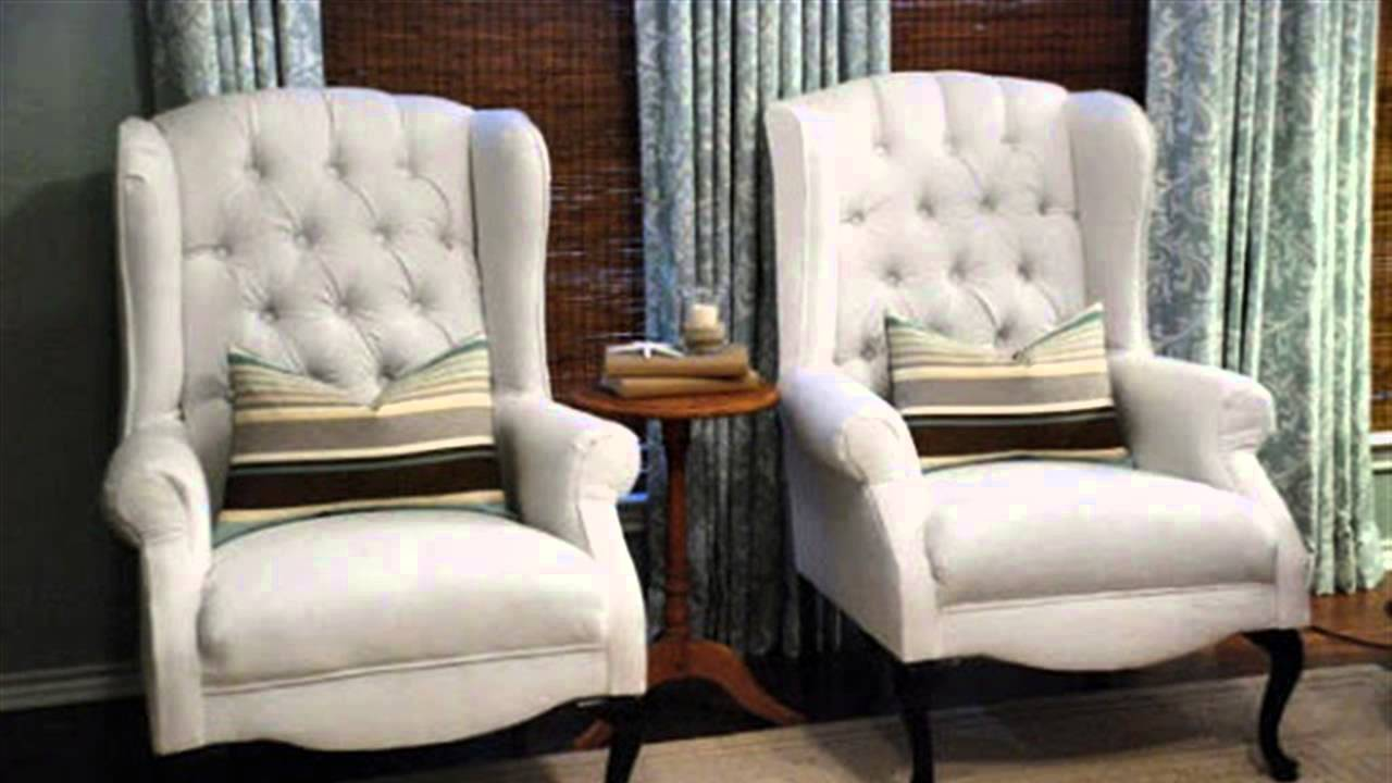 How To Reupholster A Wing Back Chair Youtube