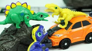 공룡메카드 스테고 데본느 니쿠스 공룡자동차 결투 장난감 변신로봇 스테고사우루스 Stegosaurus and Dinosaur Car Toys