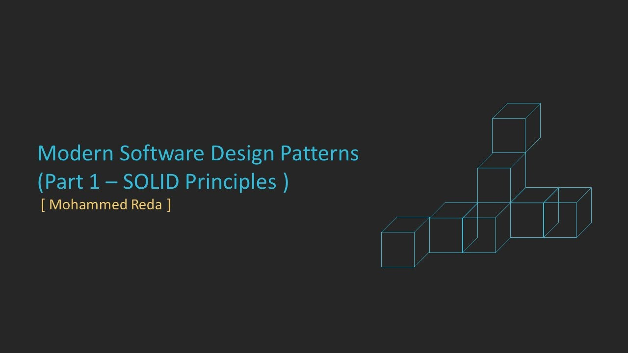 1 Software Design Patterns Introduction Youtube