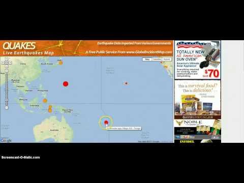 BREAKING NEWS!! 7.0 Earthquake Marinara Islands/Pagan Region!