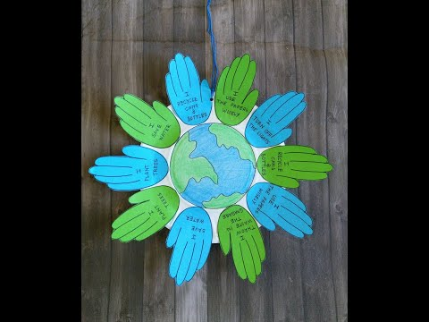 Earth Day Paper Craft Activity I Environment Day Project I Save-Earth I Save-Environment