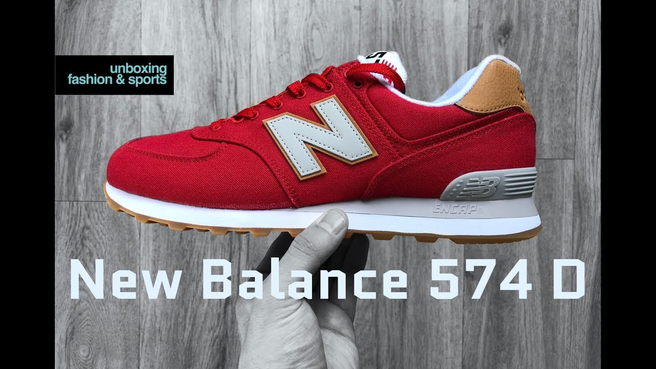 New Balance 574 D 'team red/rouge' | UNBOXING & ON FEET | fashion shoes | 2018 | 4K